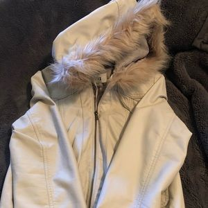 Tan leather Forever 21 Jacket